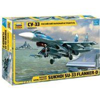 Zvezda Model Kit letadlo Sukhoi SU-33 Flanker D 1:72