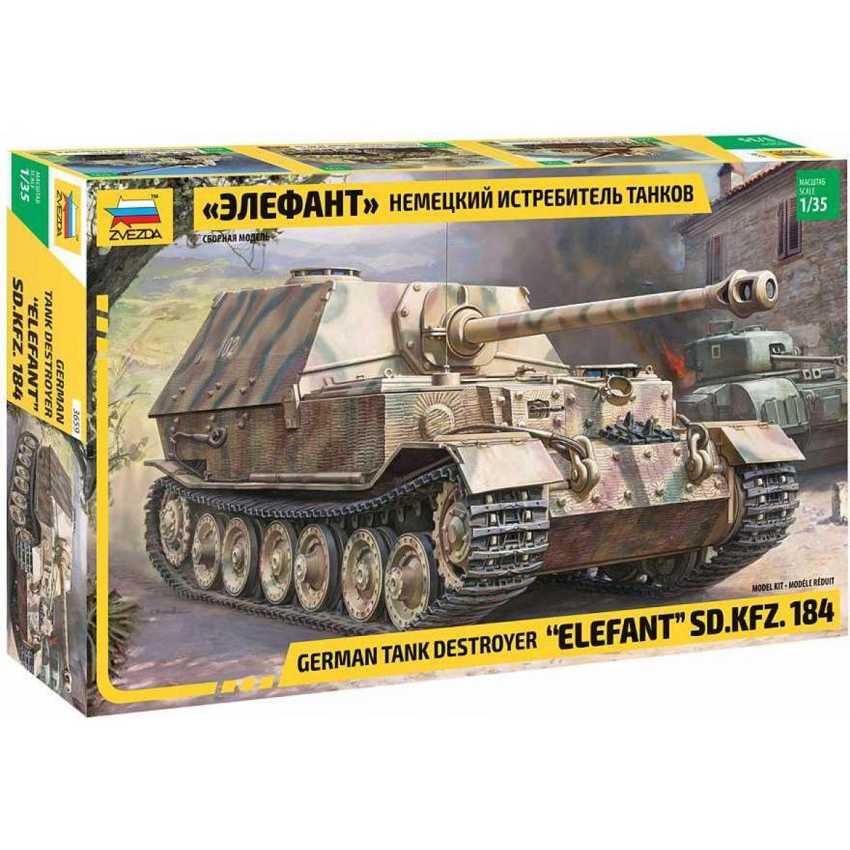 Zvezda Model Kit military Elefant Sd.Kfz.184 1:35