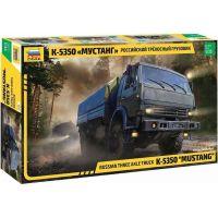 Zvezda Model Kit military Russian three axle truck K-5350 MUSTANG 1:35