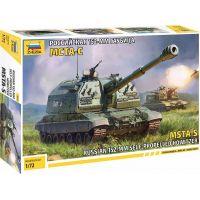 Zvezda Model Kit military MSTA-S Self Propelled Howitzer 1:72