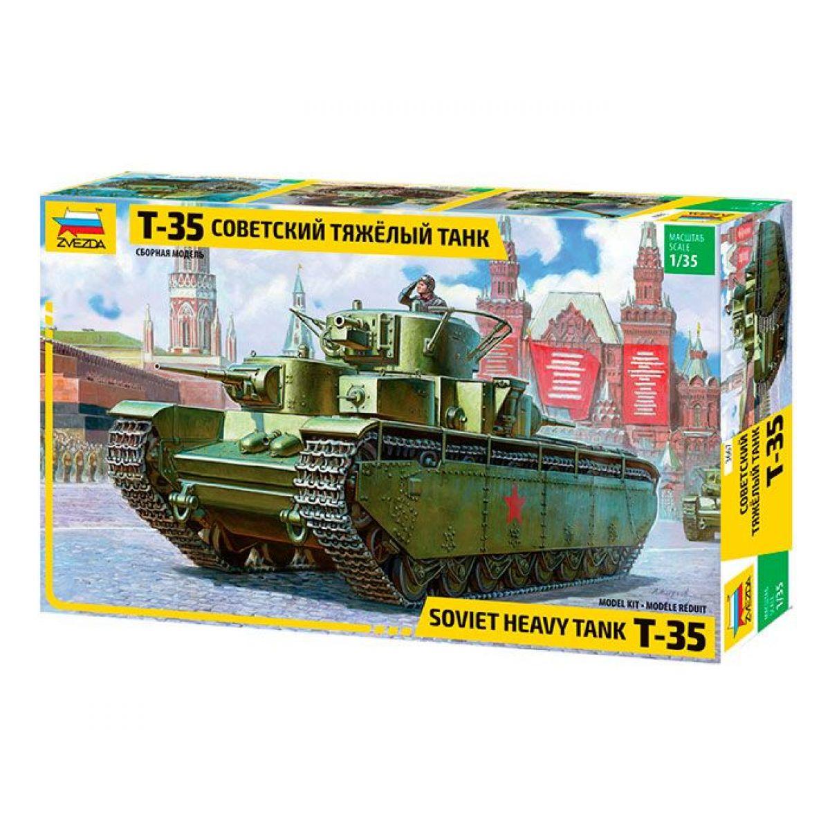 Zvezda Model Kit tank T-35 Heavy Soviet Tank 1:35