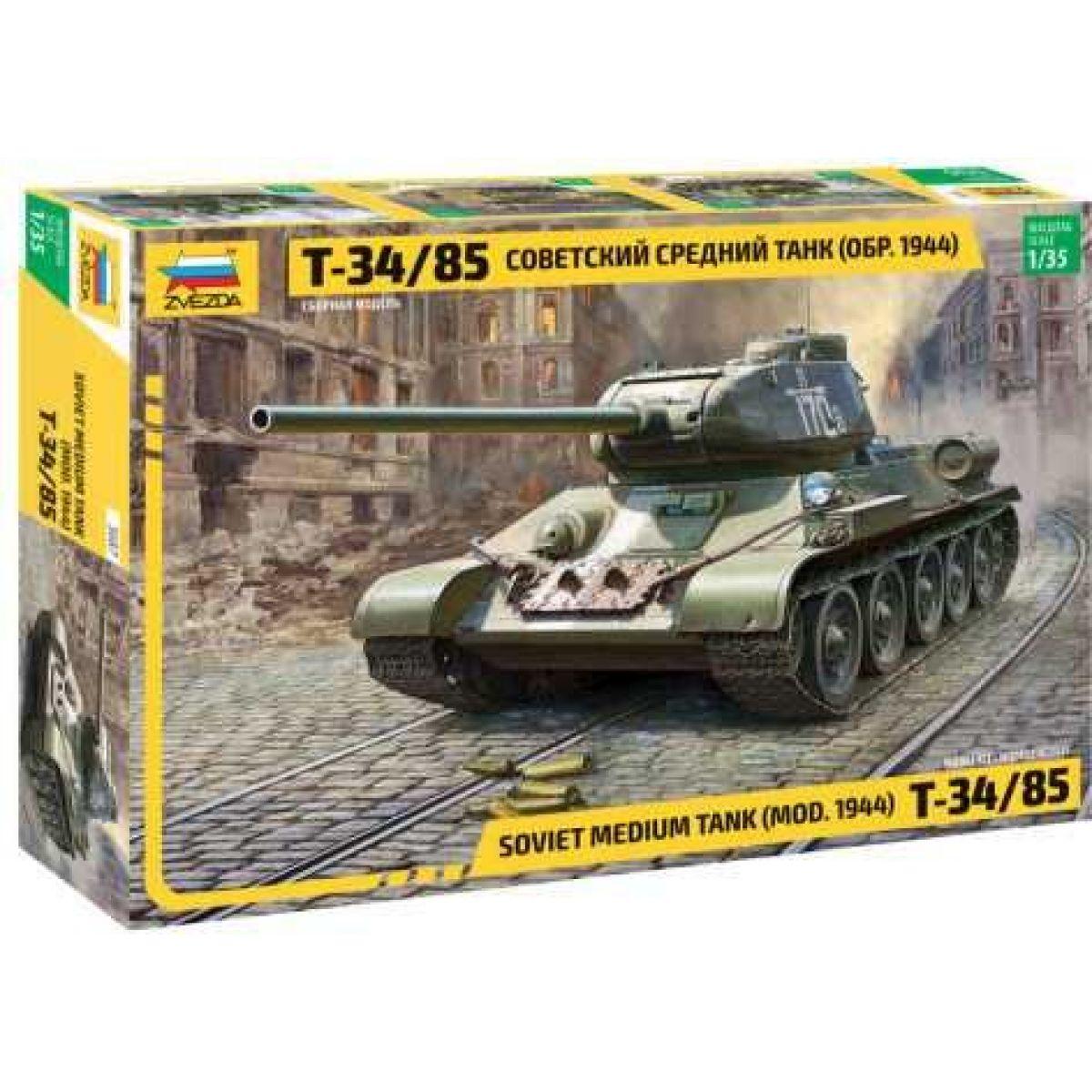 Zvezda Model Kit tank Soviet Medium Tank T-34 85 1:35