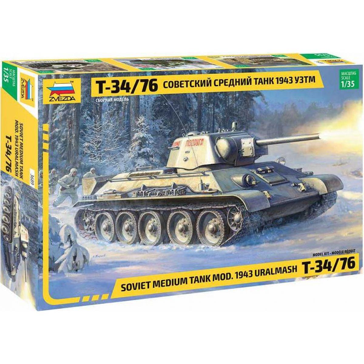 Zvezda Model Kit tank T-34 76 mod.1943 Uralmash 1:35