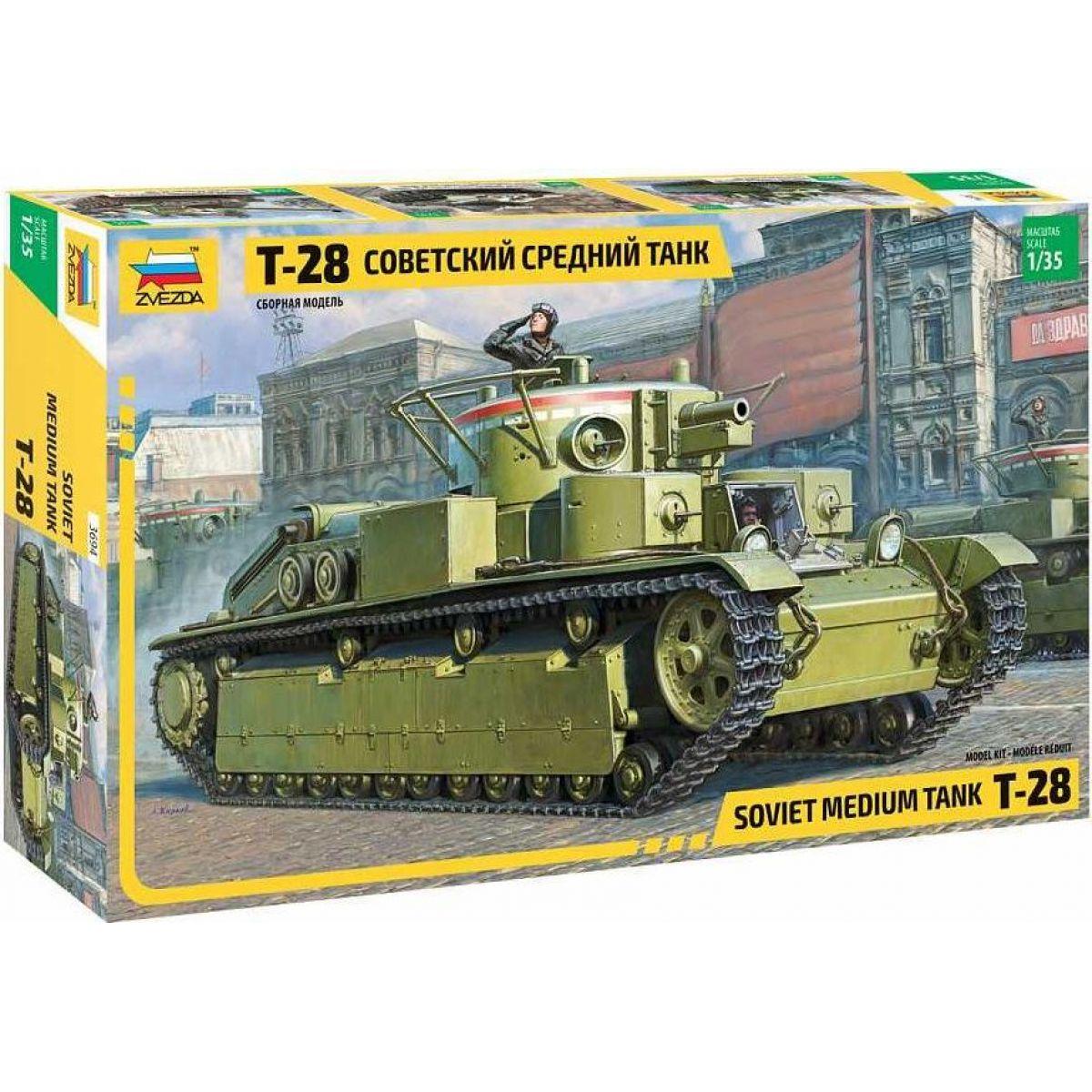 Zvezda Model Kit tank T-28 Heavy Tank 1:35
