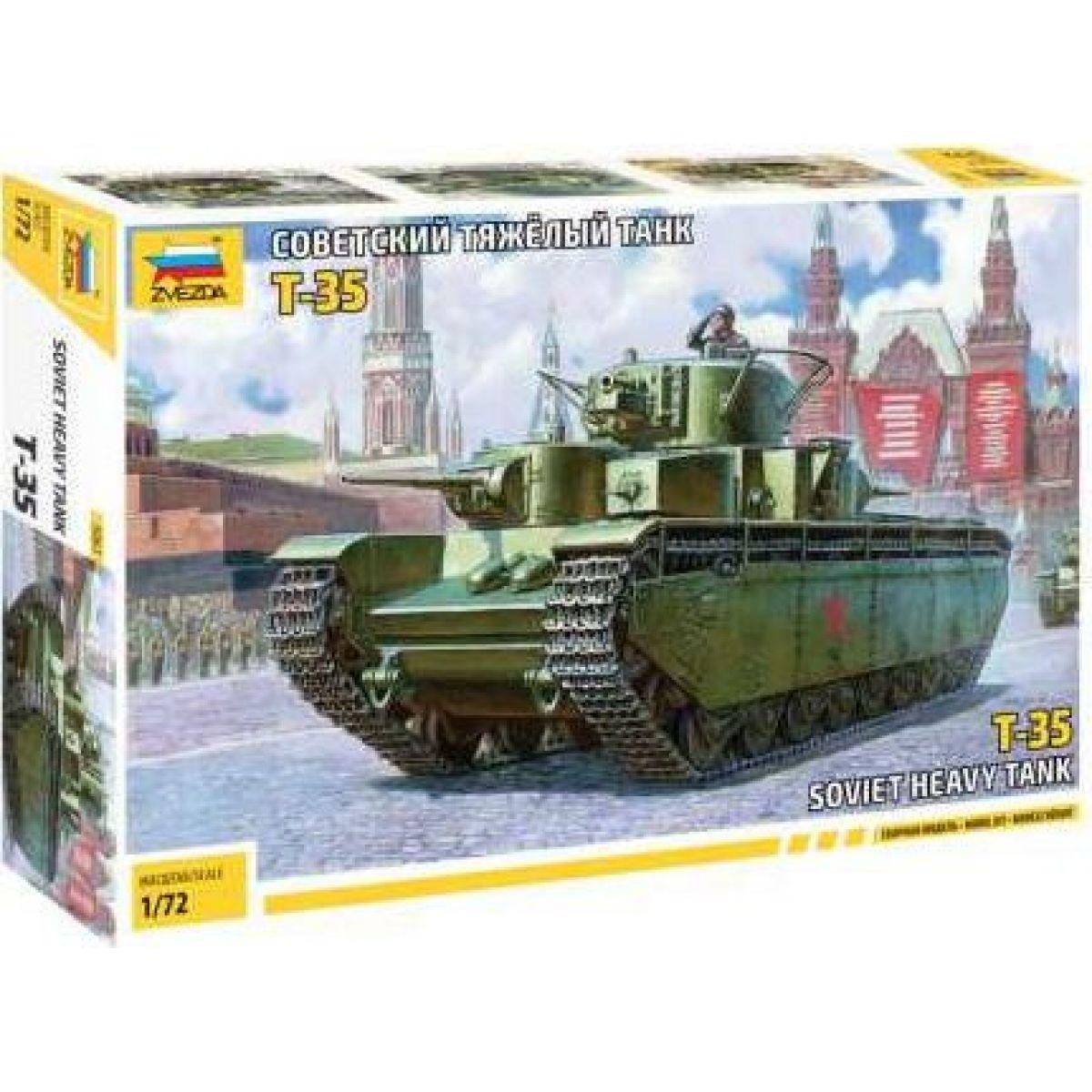 Zvezda Model Kit tank Soviet Heavy Tank T-35 1:72