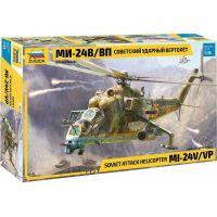 Zvezda Model Kit vrtulník MIL-Mi 24 V VP 1:48