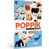 Poppik Samolepkový plakát Zvířata světa