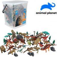 Made Zvieratká vo vedre dinosaurus 45 ks s mobilnou aplikáciou