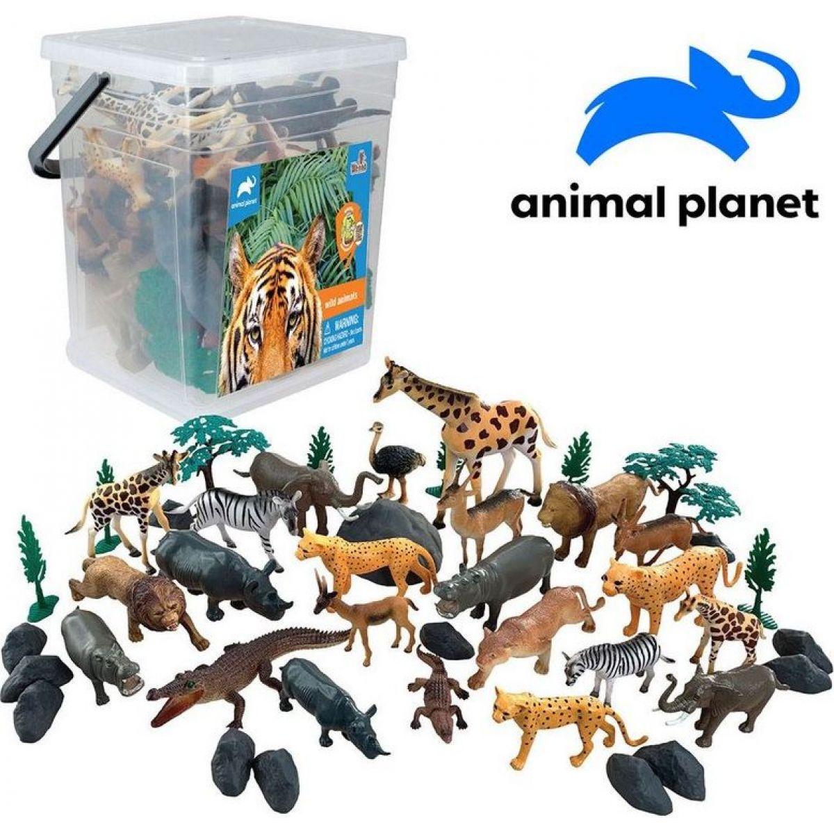 Made Zvířátka v kbelíku džungle 45 ks s mobilní aplikací