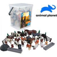 Made Zvířátka v kbelíku farma 45 ks s mobilní aplikací